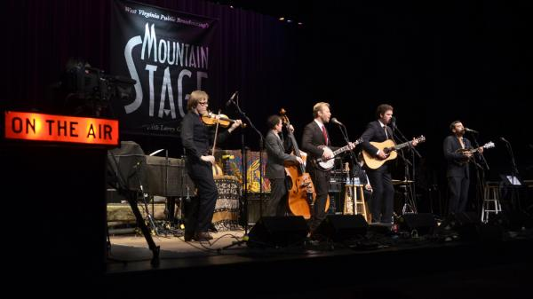 The Steep Canyon Rangers performing live on <em>Mountain Stage</em>.
