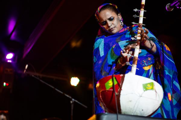 During her shows, Seymali plays an amplified <em>ardine</em>: a harp-like stringed gourd instrument akin to the West African kora.