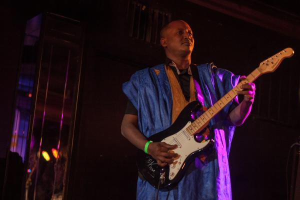 Seymali's band includes her husband, guitarist and fellow griot Jeich Ould Chighaly.