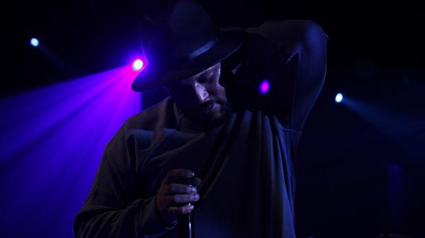 ScHoolboy Q onstage at Le Poisson Rouge in New York City two days before his major label debut dropped.