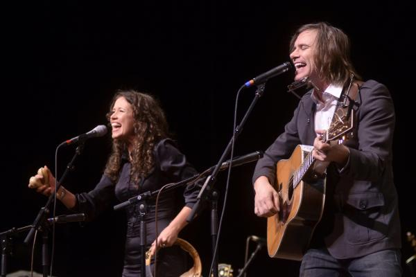 The duo's sound combines Guthrie's folk roots with Irion's indie rock sensibilities.