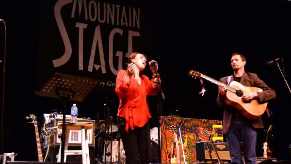 John Doyle and Karen Casey on Mountain Stage in THIS YEAR.