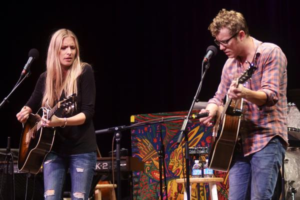 For her <em>Mountain Stage</em> set, Holly Williams plays guitar and piano. She is backed by guitarist Anderson East.