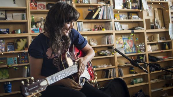 Courtney Barnett performs a Tiny Desk Concert in February 2014.