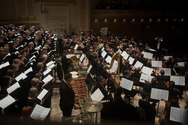 The Cincinnati Symphony Orchestra and May Festival Chorus came to Carnegie Hall on May 9, 2014, as one of the last orchestras to participate in the Spring for Music festival.