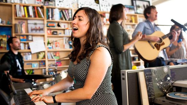 Ages and Ages performs at a Tiny Desk Concert on April 3, 2014.