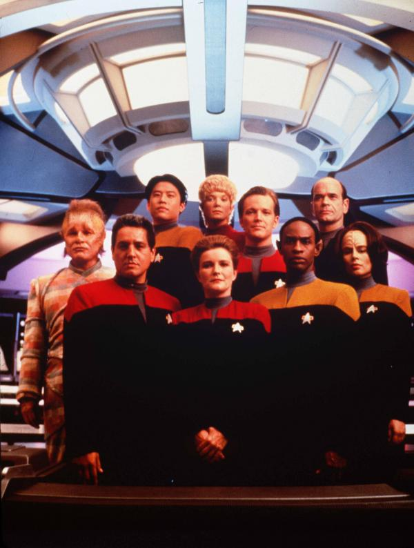 The crew of <em>Star Trek: Voyager</em>
