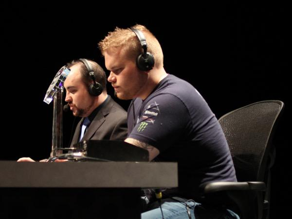 "Geoff ""iNcontrol"" Robinson (right) is a 28-year-old professional gamer for Evil Geniuses, a U.S. pro-gaming organization."