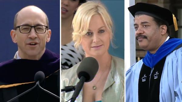 Dick Costolo, Amy Poehler and Neil deGrasse Tyson all appear in NPR's commencement speech mashup.