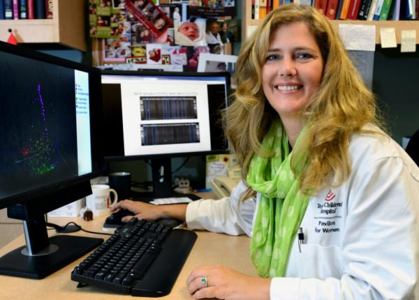 Dr. Kjersti Aagaard's new research shows a small but diverse community of bacteria lives in the placentas of healthy pregnant women, and hints that the microbes may play a role in premature birth. (Agapito Sanchez/Baylor College of Medicine)