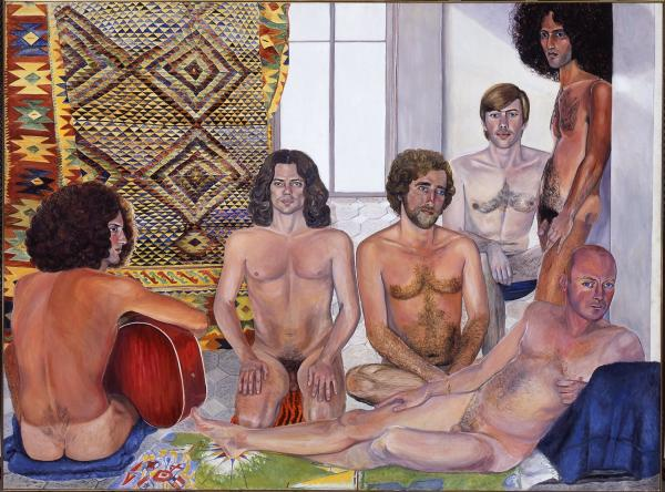 In her 1973 work <em>The Turkish Bath, </em>Sylvia Sleigh challenged the way male artists painted female nudes.