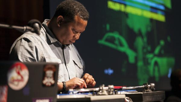 Mannie Fresh behind the decks at NPR's Washington, D.C. headquarters.