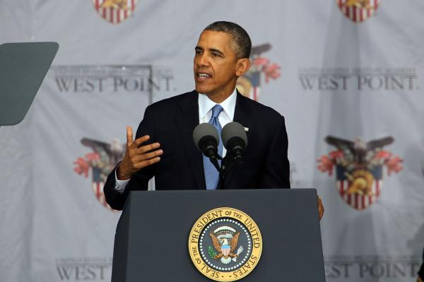 President Barack Obama delivered the commencement address at the graduation ceremony at the U.S. Military Academy at West Point on May 28. In a highly anticipated speech on foreign policy, the President provided details on his plans for winding down America's military commitment in Afghanistan. (Spencer Platt/Getty Images)