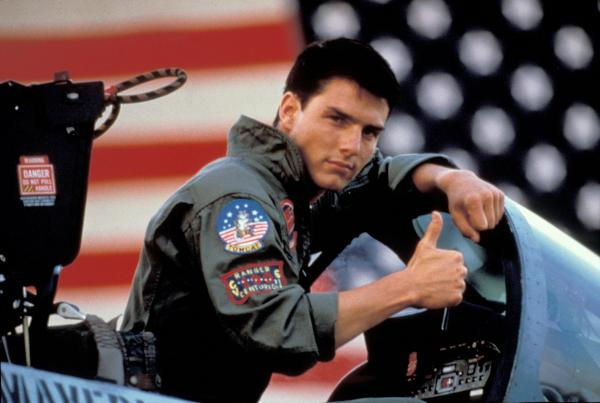 "Tom Cruise played ""Maverick"" in the 1986 movie <em>Top Gun</em>."