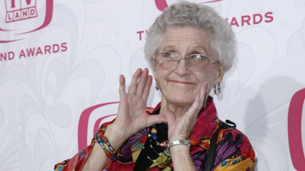 Ann B. Davis arrives at the 5th Annual TV Land Awards in Santa Monica, Calif., in 2007. Emmy-winning actress Davis, who played the housekeeper on <em>The Brady Bunch</em>, died at a San Antonio hospital on Sunday.
