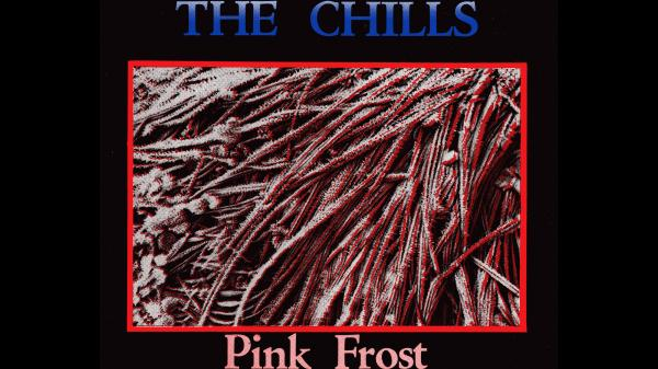 "The original art to The Chills' ""Pink Frost"" 7"" single."