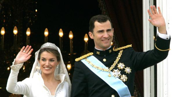 Letizia and Felipe married in Madrid in 2004.