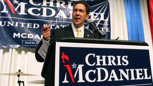 Mississippi state Sen. Chris McDaniel has a slight lead over six-term GOP Sen. Thad Cochran in the state's Republican Senate primary.