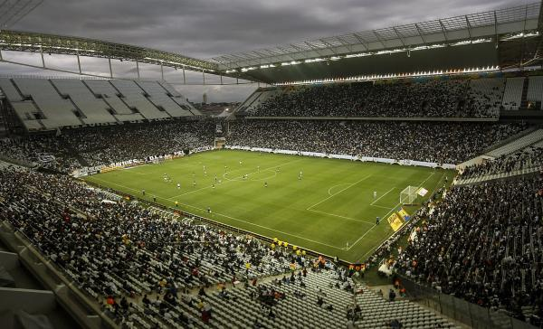 "Corinthians Arena in Sao Paulo, Brazil, holds a test match Sunday ahead of the World Cup. One fan who attended said the country ""didn't deliver"" and isn't ready for the event."
