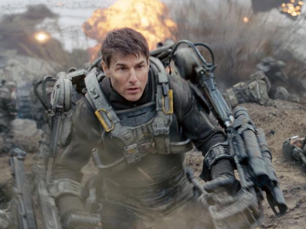 Tom Cruise as Maj. William Cage, a soldier who's woefully unprepared for battle, in <em>Edge of Tomorrow</em>.