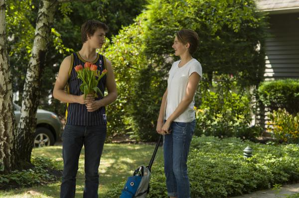 Ansel Elgort (Augustus) and Shailene Woodley (Hazel) star in <em>The Fault in Our Stars, </em>the film adaptation of John Green's bestselling young adult novel about two teens with cancer.