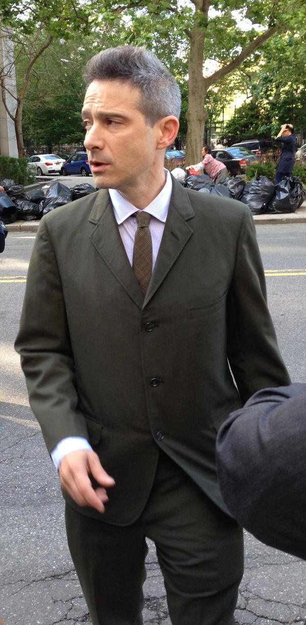 "Rapper Adam ""Ad-Rock"" Horovitz leaves a New York City courthouse Thursday."