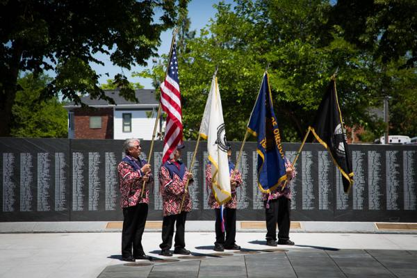 A new World War II memorial at Willson Park on the Oregon State Capitol grounds was dedicated Friday.