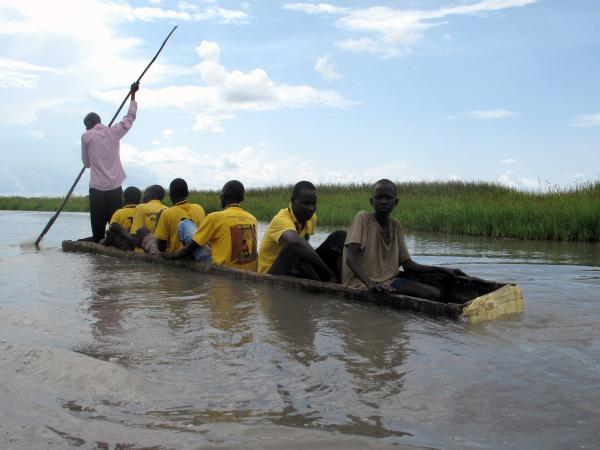 A shallow floodplain fed by the Nile River helps keep Ganyliel, South Sudan, isolated from attackers. But it also makes it difficult to bring aid in for those who are displaced and starving.