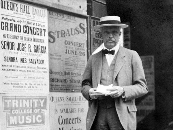 Composer Richard Strauss in London in 1914.