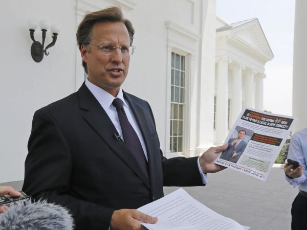 Tea Party-backed David Brat, an economics professor at Randolph-Macon College, has defeated House Majority Leader Eric Cantor in his Virginia Republican primary.
