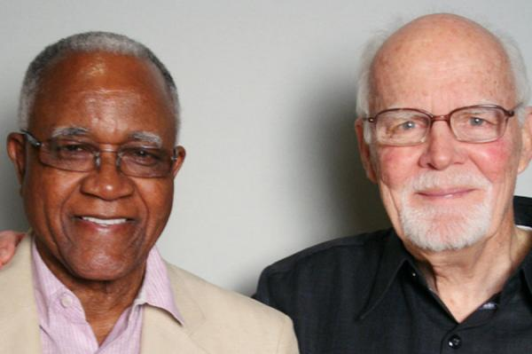 On a visit to StoryCorps in Atlanta, J.T. Johnson (left) and Al Lingo recalled protesting a whites-only pool policy at a Florida hotel in 1964.