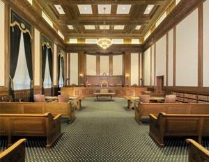 Inside Washington state Supreme Court chambers.