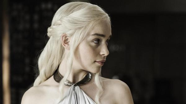 Emilia Clarke as this beautiful blonde lady who may or may not one day be murdered on HBO's <em>Game of Thrones</em>. If she is, Twitter will tell you.