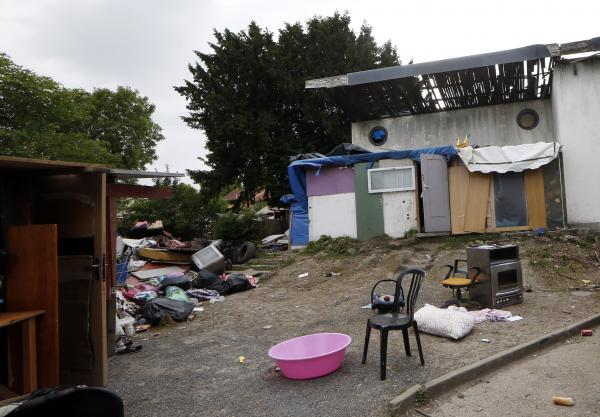 Darius, the 16-year-old Roma boy who was the victim of a brutal vigilante attack, lived in this camp, Pierrefitte-sur-Seine, outside Paris.