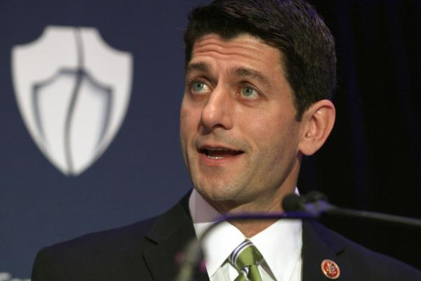 House Budget Committee Chairman Rep. Paul Ryan, R-Wis. speaks at the Center for New Security's Eight Annual National Security Conference in Washington.