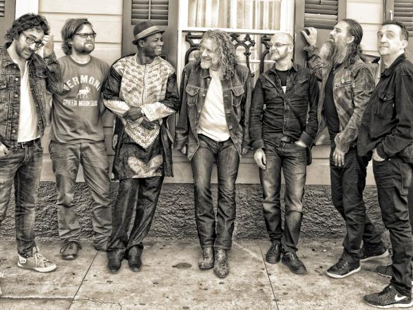 Robert Plant and his new band The Sensational Space Shifters.
