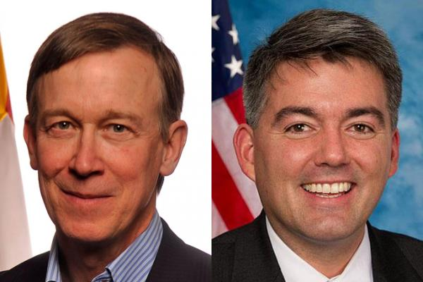 Two GOP primaries are June 24 to decide the Republican candidate that will challenge Governor Hickenlooper (left) in November and for who will face the Democratic candidate for Cory Gardner's (right) vacated seat in the 4th Congressional District.