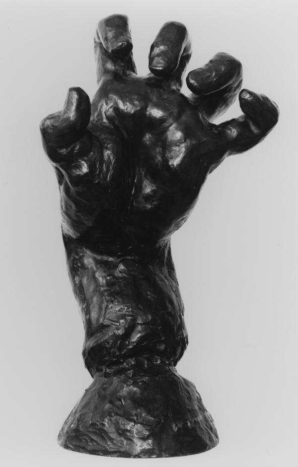 Rodin's <em>Large Clenched Left Hand</em>, circa 1888. Bronze, posthumous cast, 1971.