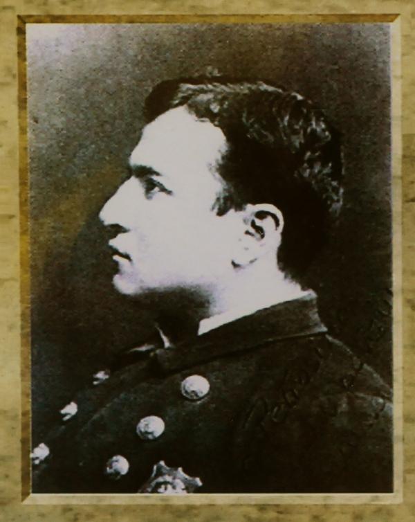 A portrait of Lt. Giuseppe Petrosino.