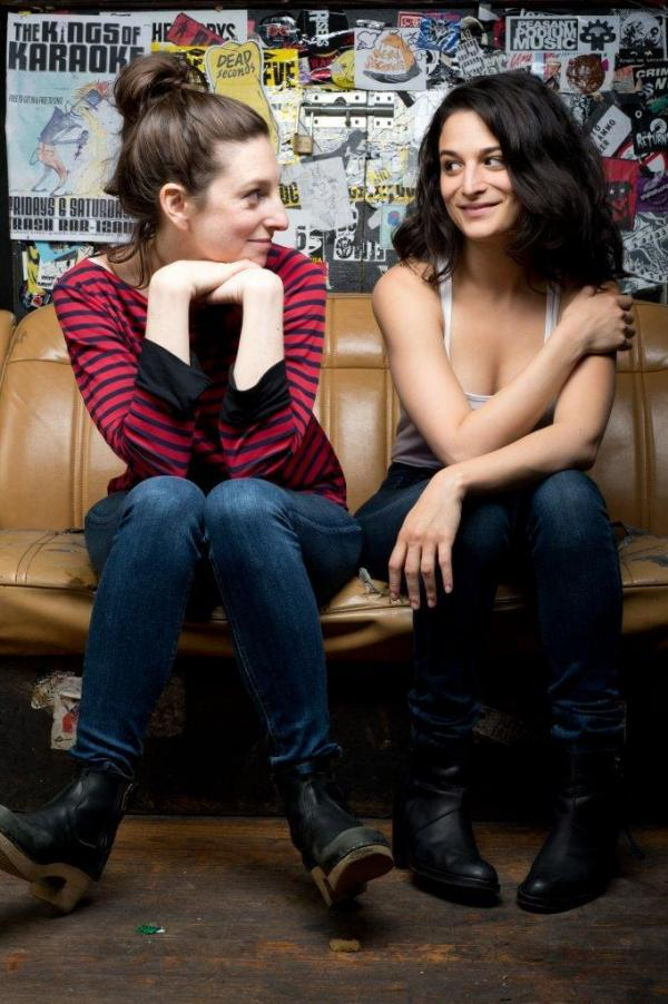 Director Gillian Robespierre (left) co-wrote <em>Obvious Child</em> as a short film in 2009 with an empowered female lead in mind. Jenny Slate, who stars as Donna in the feature film, says she was excited about the role.
