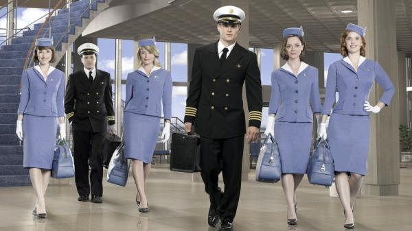 The cast of ABC's <em>Pan Am</em>.