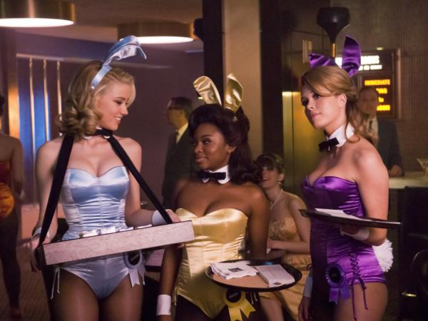 Actresses Amber Heard, Naturi Naughton and Leah Renee  in a scene from NBC's <em>The Playboy Club</em>.