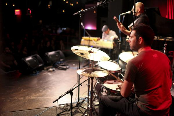 <p>Drummer Mark Guiliana and the band.</p><p></p>