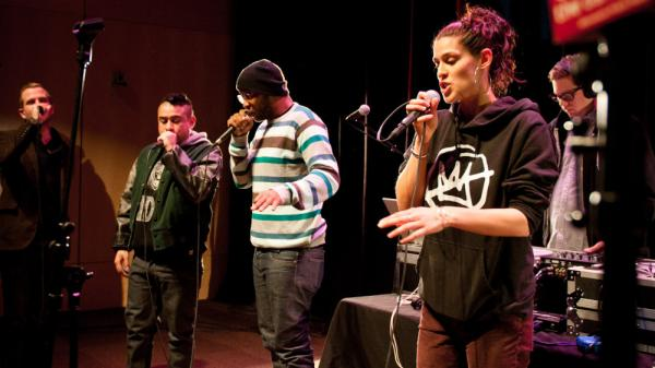 The Minneapolis collective Doomtree performs live in The Current's studio.