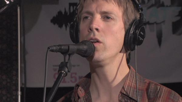 Jonathan Meiburg of Shearwater performs a studio session at WFUV in New York City.