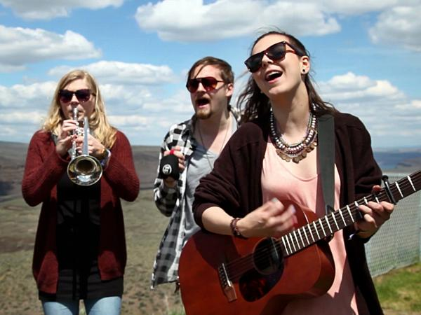 Of Monsters And Men perform a Field Recording backstage at Sasquatch! Music Festival at the Gorge Amphitheater in George, WA on Friday, May 25, 2012.