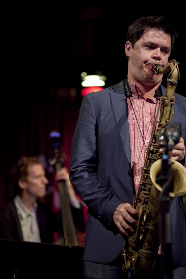 Seamus Blake, with bassist Ben Street.