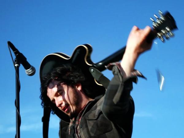 Reignwolf performs backstage at the Sasquatch Music Festival for an NPR Music Field Recording.