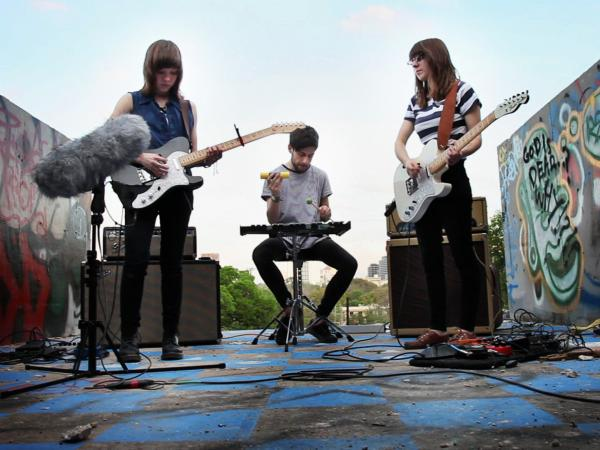 Now, Now performs for a Field Recording video at Graffiti Park in Austin, Texas, during SXSW in 2012
