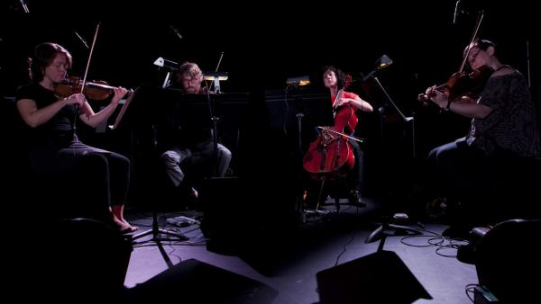 Members of ACME (violinists Caroline Shaw and Ben Russell, violist Nadia Sirota and cellist Clarice Jensen) dug into Steve Reich's <em>Different Trains </em>to open their performance, recorded live on Sept. 11, 2012.